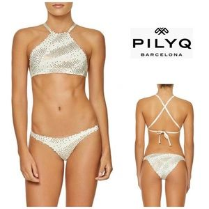 PILYQ City of Stars reversible bikini.